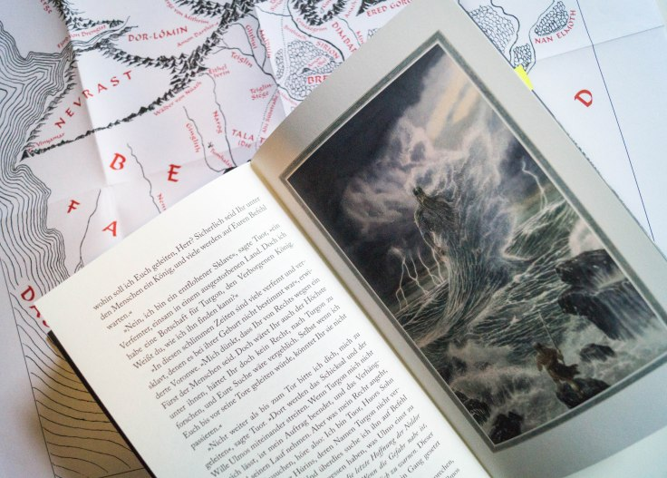 "Illustrationen in ""Der Fall von Gondolin"""