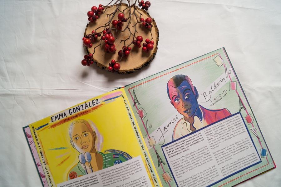 Zwei HeldInnen der LGBTQ-Bewegung: Emma Gonzalez und James Baldwin